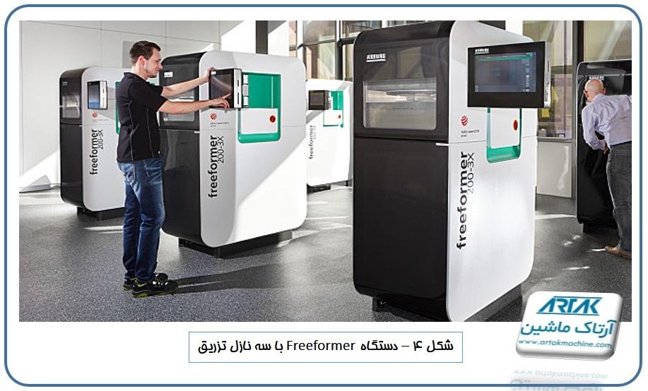 دستگاه تزریق پلاستیک freeformer با سه نازل تزریق